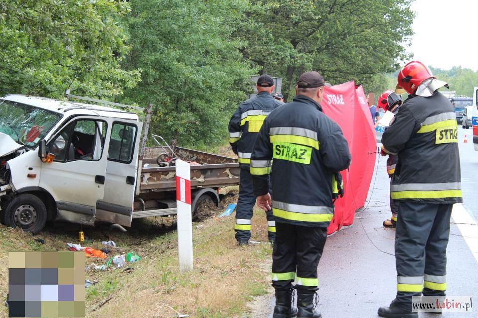 Śmiertelny wpadek na drodze krajowej nr 3 między Polkowicami a Lubinem