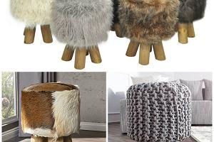 Stołki z włóczki i imitacji futra - HIT