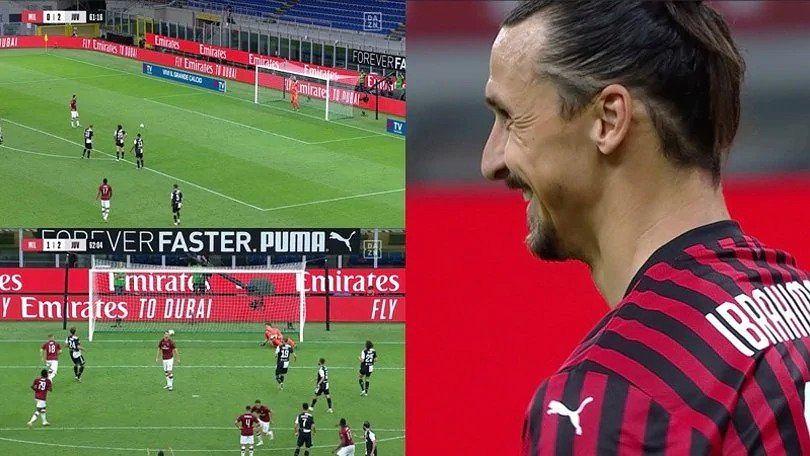Zlatan Ibrahimović przy rzucie karnym, po którym pokonał Wojciecha Szczęsnego