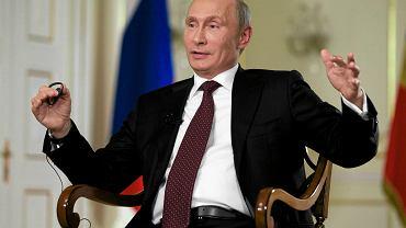Władimir Putin podczas udzielania wywiadu