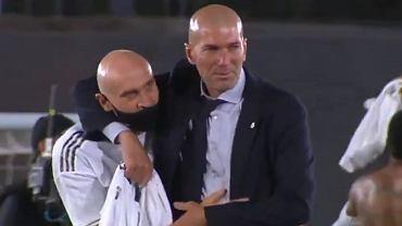Zinedine Zidane po zdobyciu mistrzostwa Hiszpanii