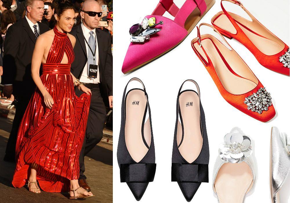 Gal Gadot lansuje modę na płaskie buty - także na wieczór czy na czerwonym dywanie