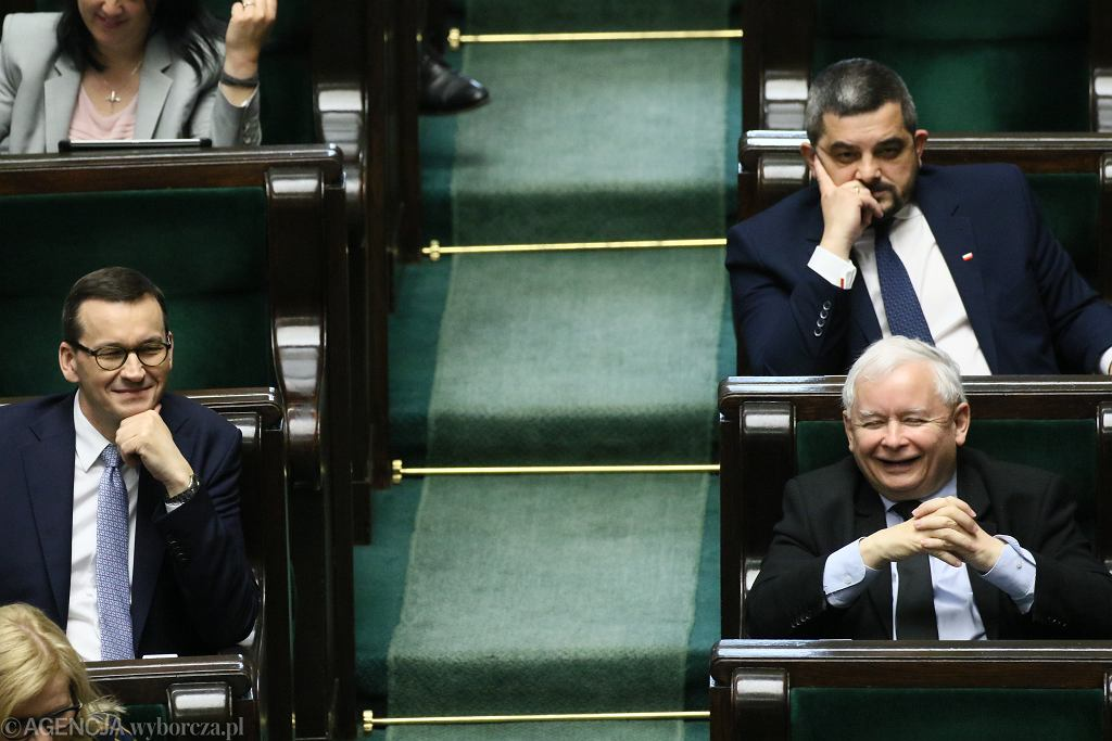 Mateusz Morawiecki i Jarosław Kaczyński