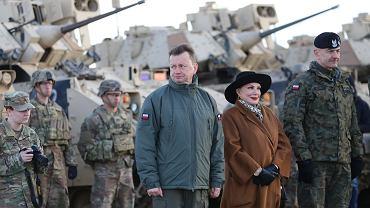 Szef MON Mariusz Błaszczak i ambasador USA w Polsce Georgette Mosbacher