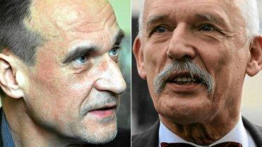 Trzej kandydaci na prezydenta: Paweł Kukiz [1], Janusz Korwin- -Mikke [2] i Marian Kowalski [3] powinni według Artura Zawiszy z Ruchu Narodowego stworzyć koalicję - od ich nazwisk nazwał  ją roboczo 'Ku-Klux-Klanem'