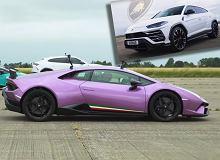 Bratobójczy pojedynek Lamborghini. Trzy modele ścigają się na lotnisku [WIDEO]