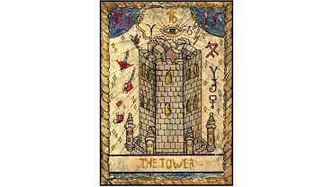 Karta tarota - 16 wieża
