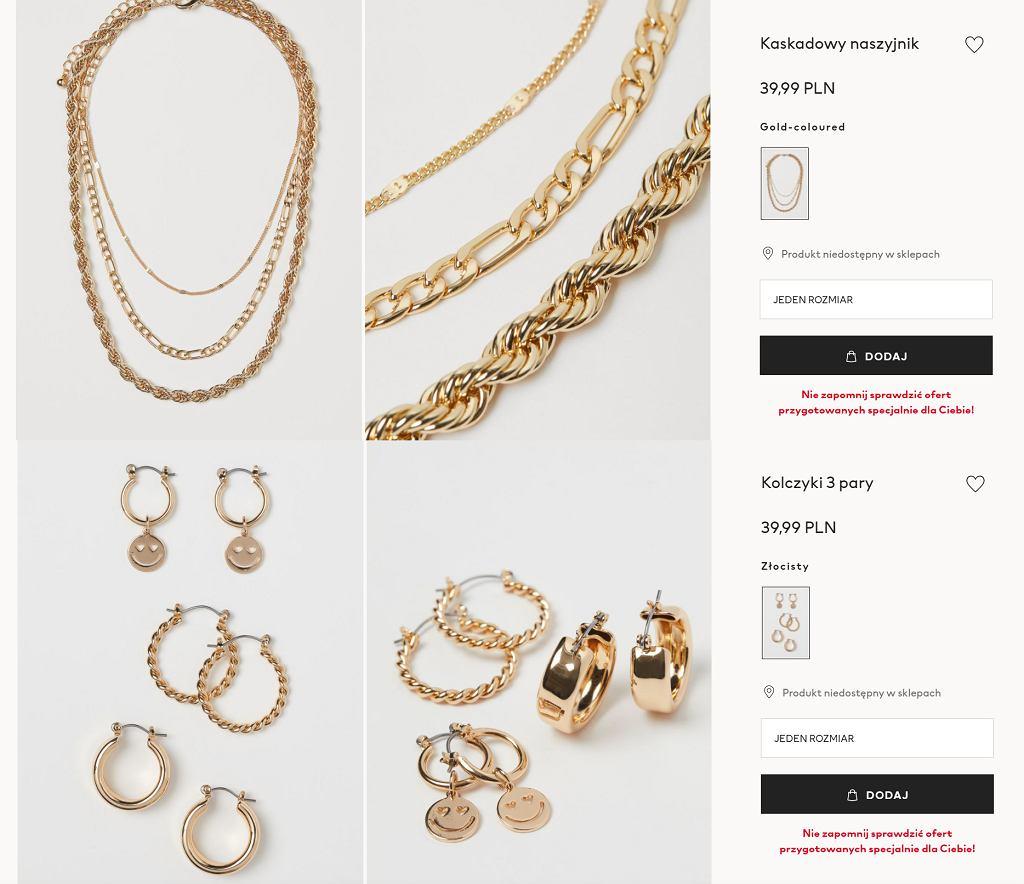 Biżuteria H&M