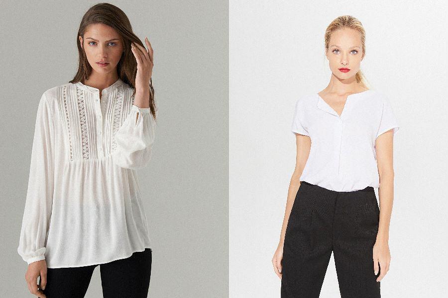 Mohito bluzki białe