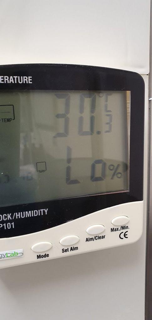 Temperatura w szpitalu na sali