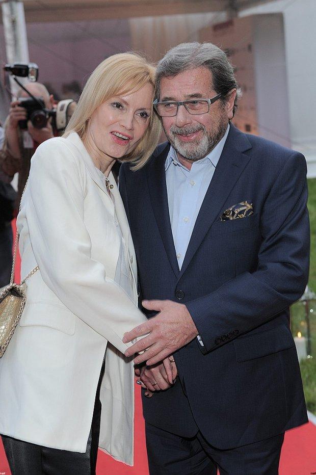 Janusz Gajos i żona Elżbieta Gajos