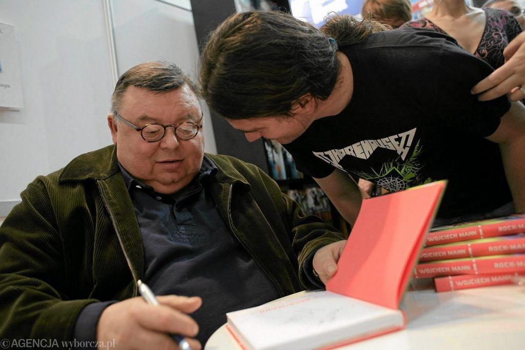 Wojciech Mann podczas targów książki w Krakowie (fot. Michał Lepecki / Agencja Gazeta)