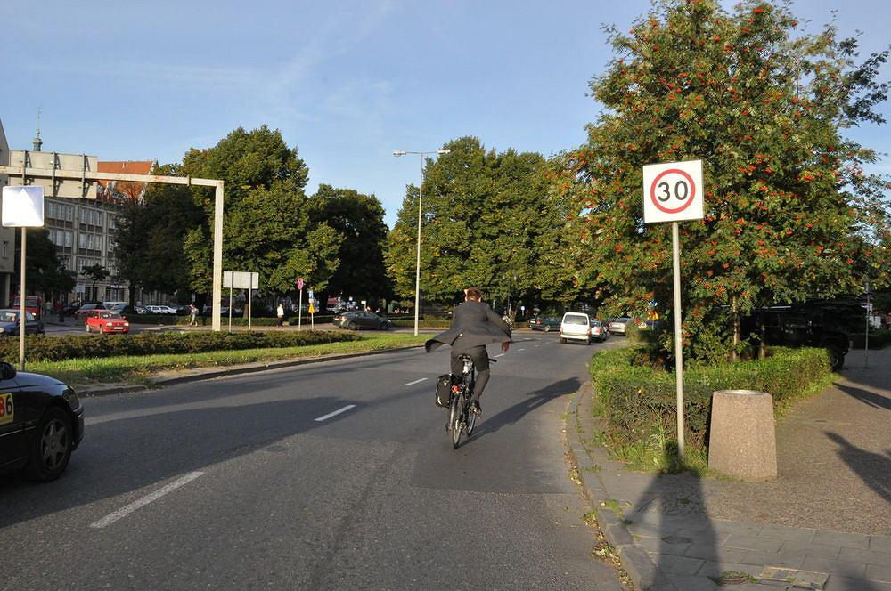 Gdańsk jest prawdopodobnie liderem w kwestii ilości ulic z ograniczeniem prędkości do 30 km/h
