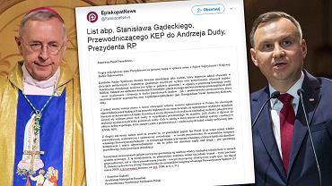 Abp Gądecki/list KEP.Andrzej Duda