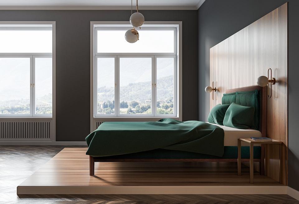 Łóżko tapicerowane Klematisar Bergen.
