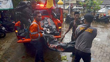 23.12.2018, Carita, Indonezja, ofiara śmiertelna tsunami.