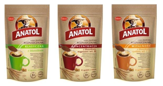 Anatol z błonnikiem i witaminami - funkcjonalna kawa zbożowa od Delecty