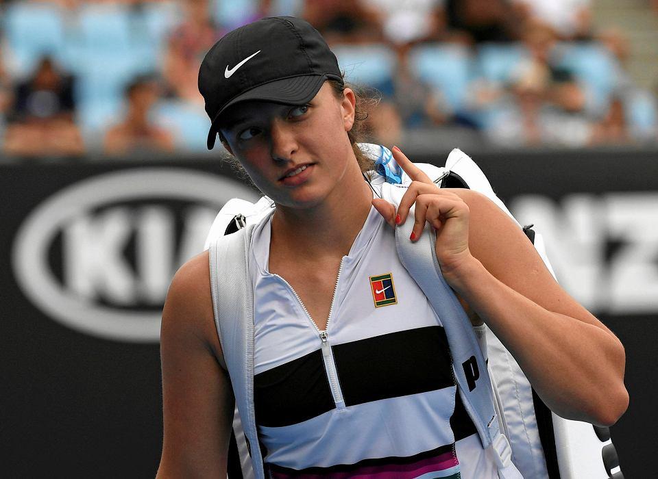 Iga Świątek podczas turnieju Australian Open