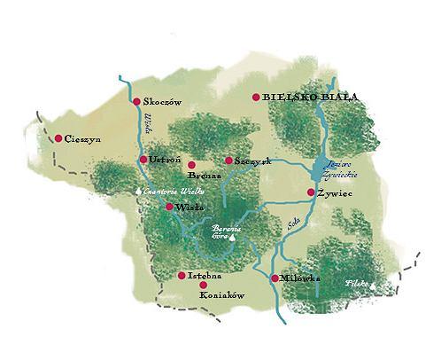 mapa Beskidu Śląskiego