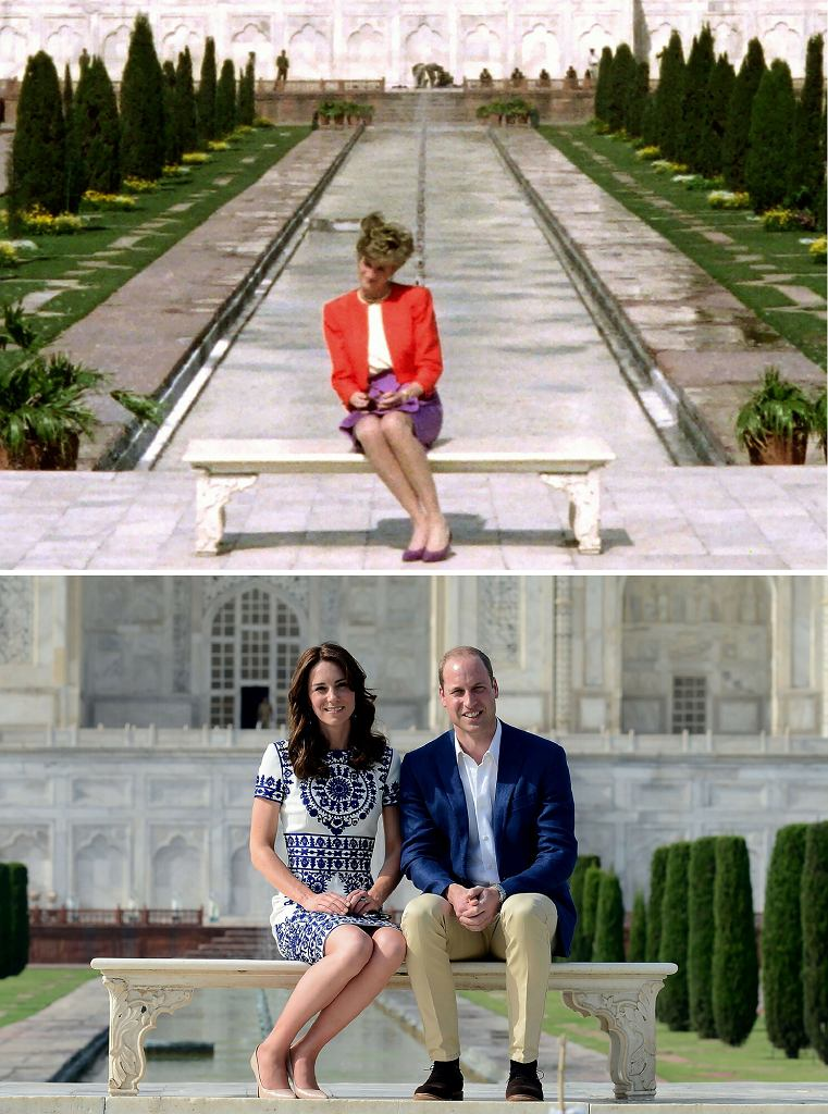 Księżna Diana, Kate i William w Indiach
