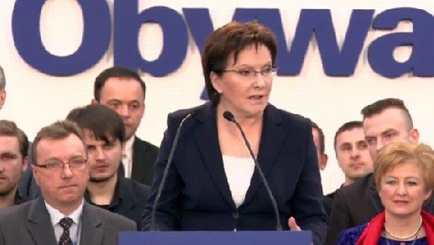 Ewa Kopacz na konwencji PO