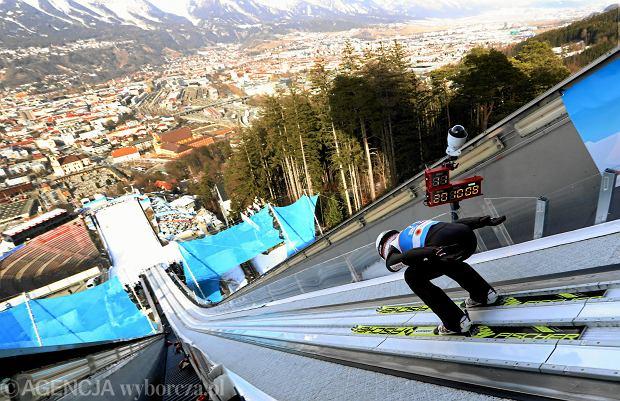 Kamil Stoch podczas mistrzostw świata w Seefeld