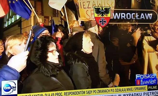 Herb Wrocławia z czasów II wojny światowej w relacji TVN24.