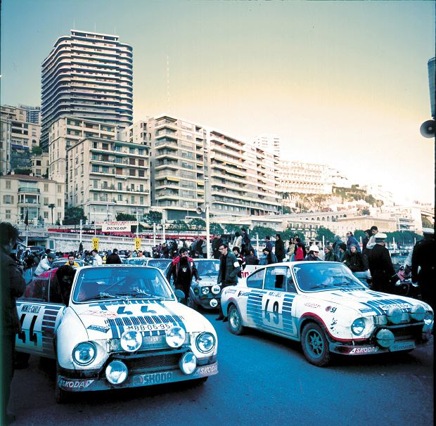 Skoda 130 RS na Rajdzie Monte Carlo w 1977 r.