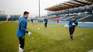 Trening piłkarzy Zawiszy