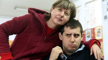 Pani Monika z synem Błażejem