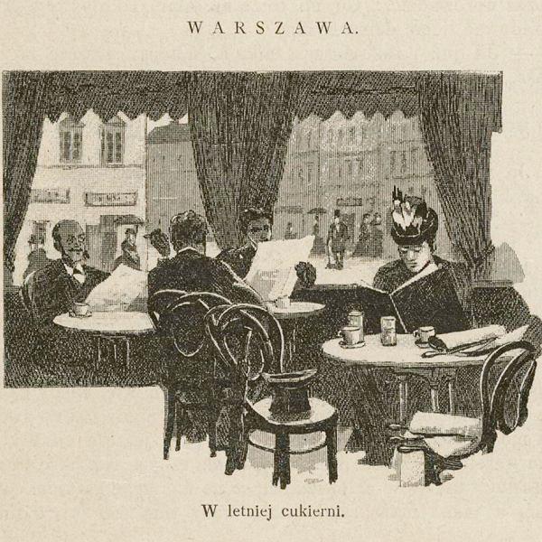 W letniej cukierni, grafika z1893 roku