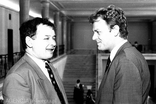 Jarosław Kaczyński i Donald Tusk, 1992 rok