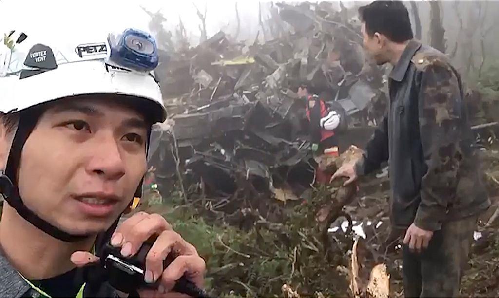 Katastrofa śmigłowca na Tajwanie