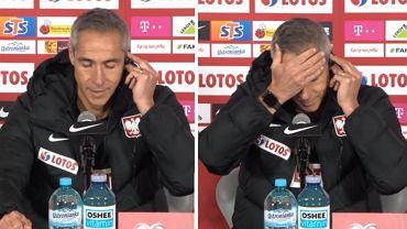 Paulo Sousa na konferencji prasowej przed meczem z San Marino