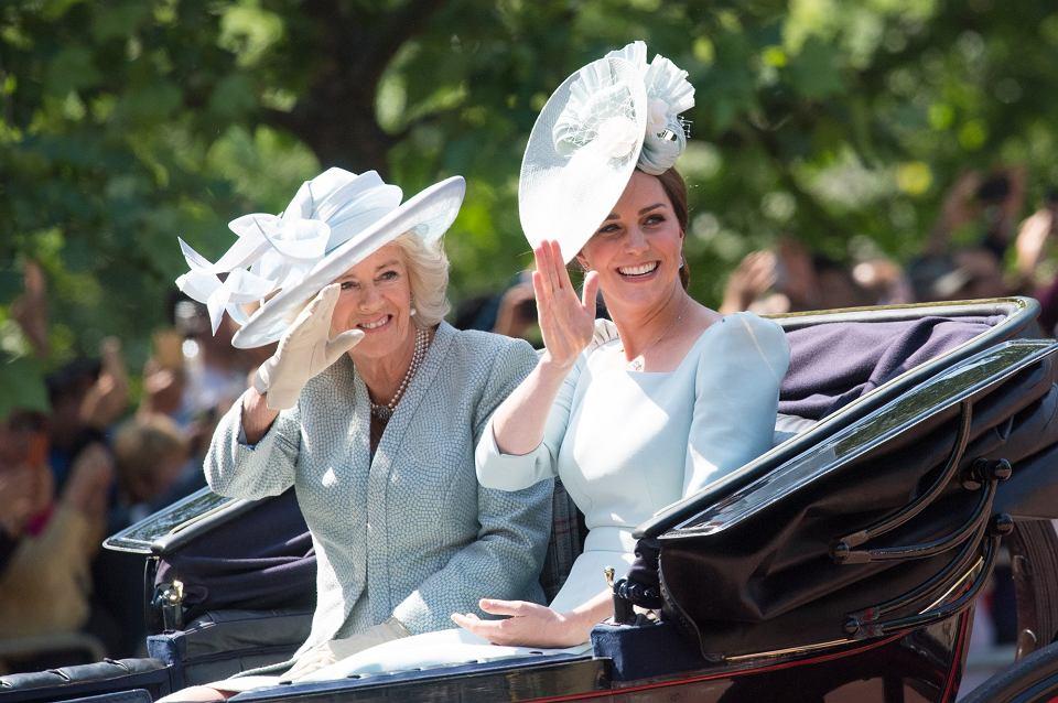 Camilla, księżna Kornwalii, księżna Kate (Kate Middleton) na Trooping the Colour