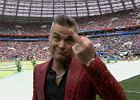 Mistrzostwa świata w piłce nożnej. Szokujące zachowanie Robbiego Williamsa podczas ceremonii otwarcia