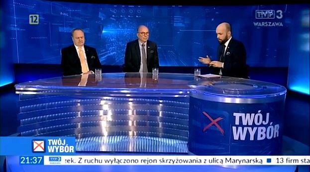 Dyskusja w programie 'Twój wybór' w TVP 3