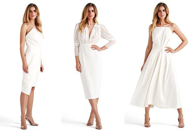 Białe sukienki koktajlowe - Dorota Goldpoint