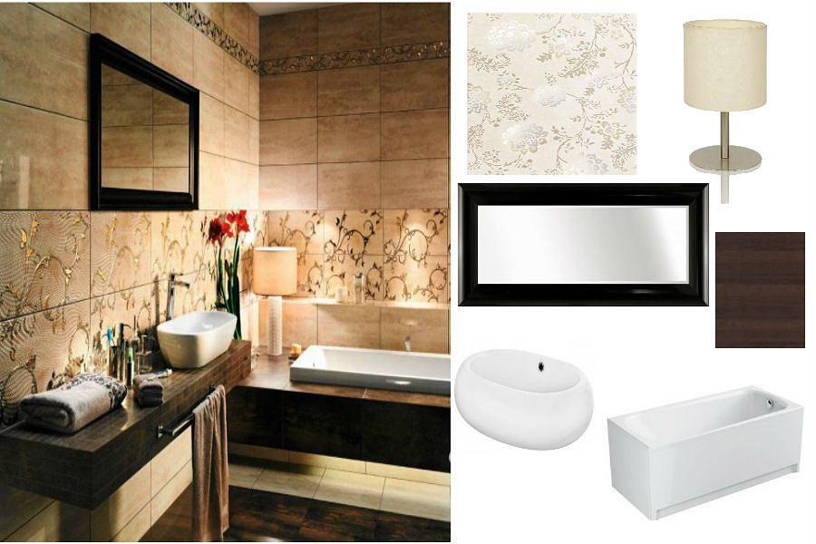Łazienka z nutą elegancji i romantyzmu