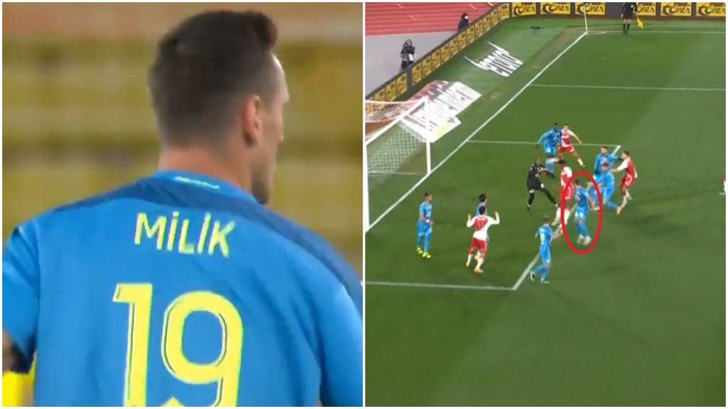 Arkadiusz Milik z debiutem w Marsylii. Popełnił błąd przy drugim golu dla AS Monako