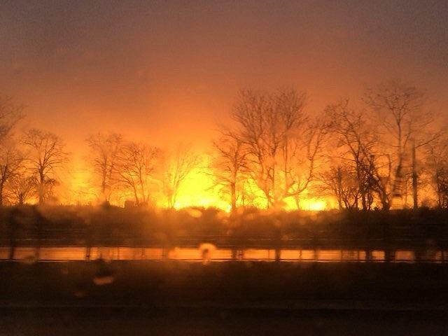 'Płonący horyzont' przy ulicy Jagiellońskiej