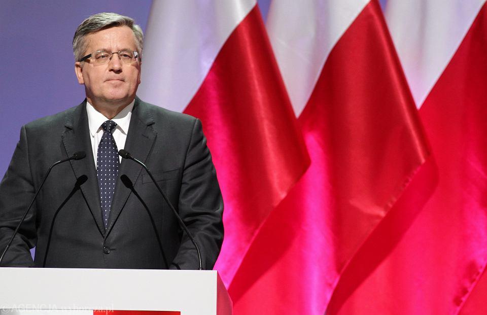 Bronisław Komorowski podczas Rady Krajowej Platformy Obywatelskiej