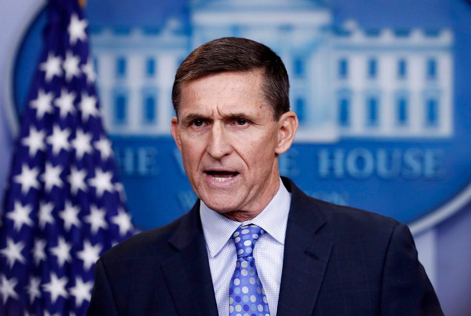 Były doradca Trumpa Michael Flynn przyznał się do składania fałszywych zeznań FBI. Na zdjęciu: podczas konferencji prasowej w Białym Domu, Waszyngton, 1 lutego 2017