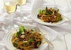 Spaghetti z sosem szparagowo-ziołowym - Zdjęcia