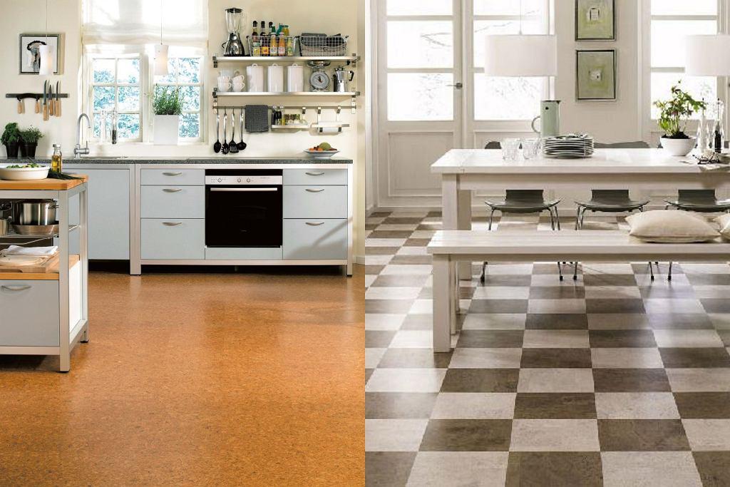 Podłoga w kuchni - korek
