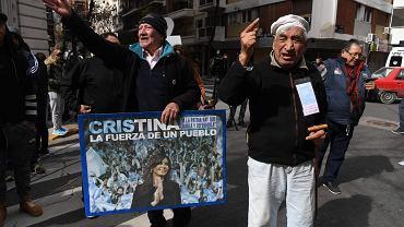 Zwolennicy byłej prezydent Argentyny Cristiny Kirchner demonstrują w BUenos Aires, 23 sierpnia 2018 r.