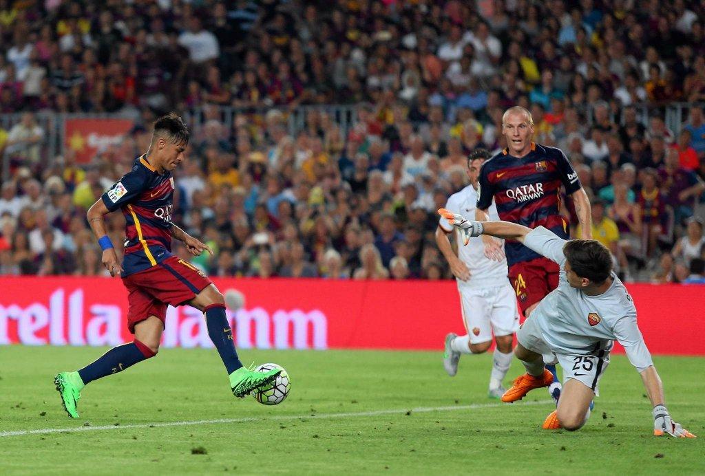 FC Barcelona - AS Roma 3:0. Neymar i Wojciech Szczęsny