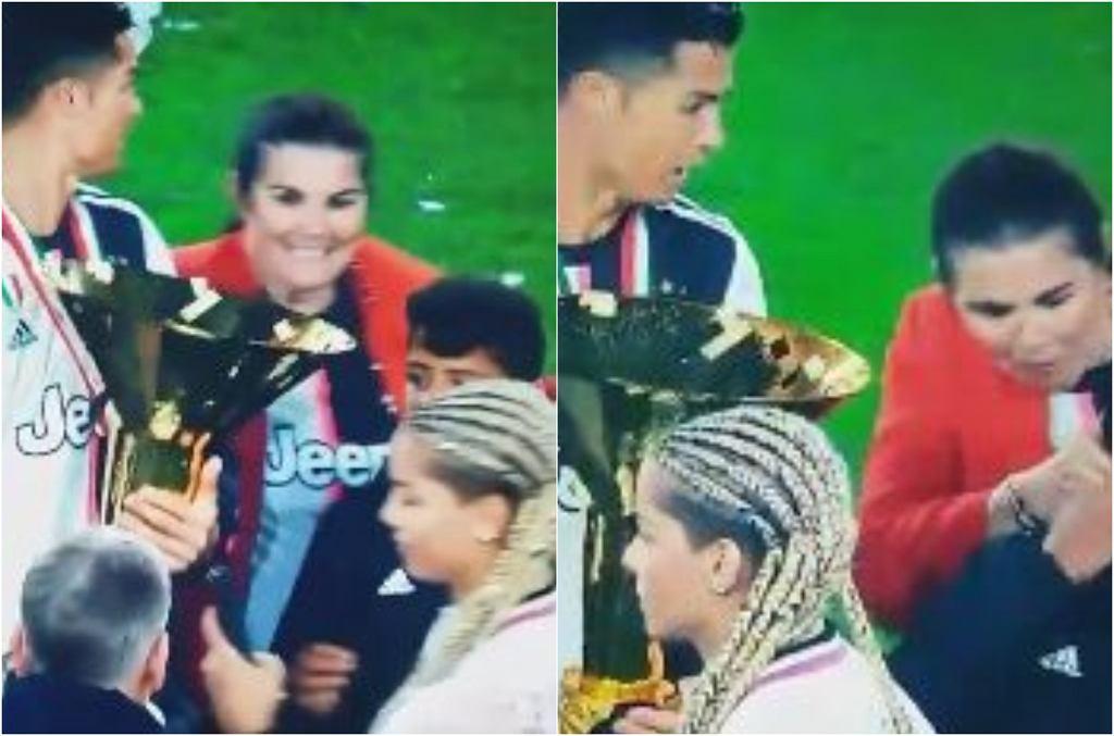 Ronaldo z rodziną