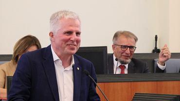 Marek Łapiński, przewodniczący klubu KO w sejmiku.