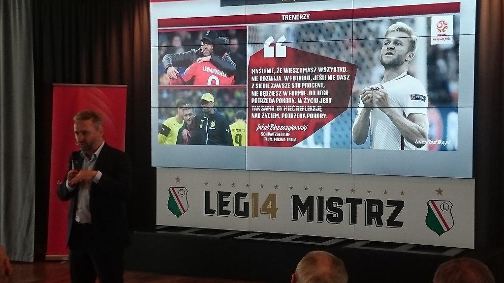 Jerzy Brzęczek na konferencji Stowarzyszenia Trenerów Piłki Nożnej